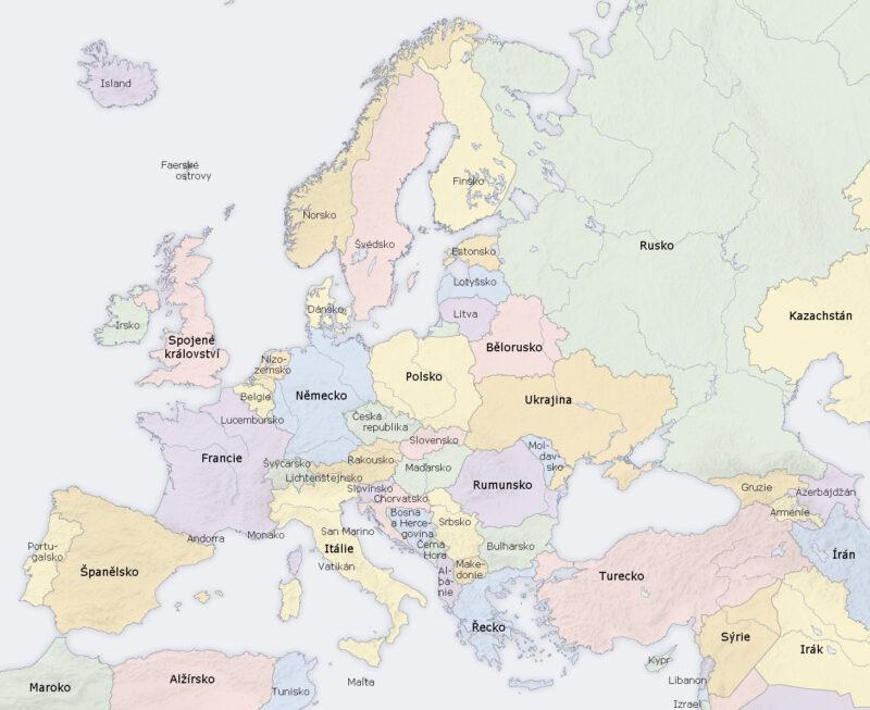 Země země mapa