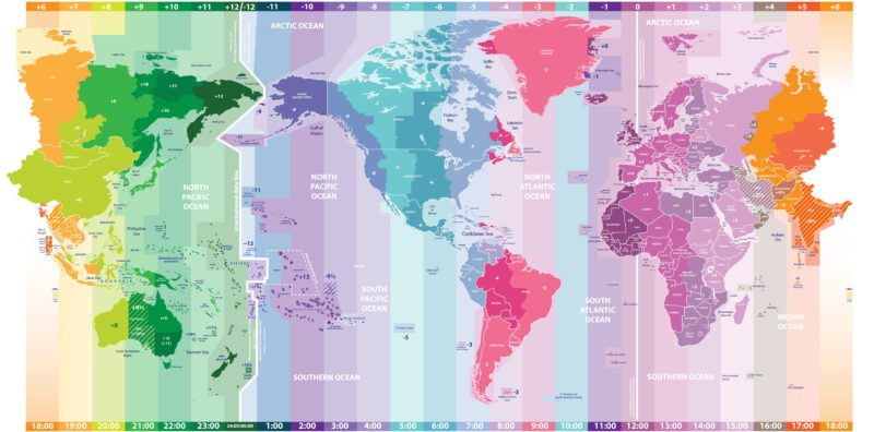 Quality and very detailed time zone map