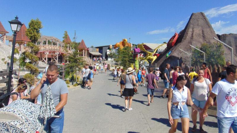 Streets of amusement park Energylandia