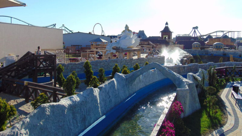 There is also a water attraction