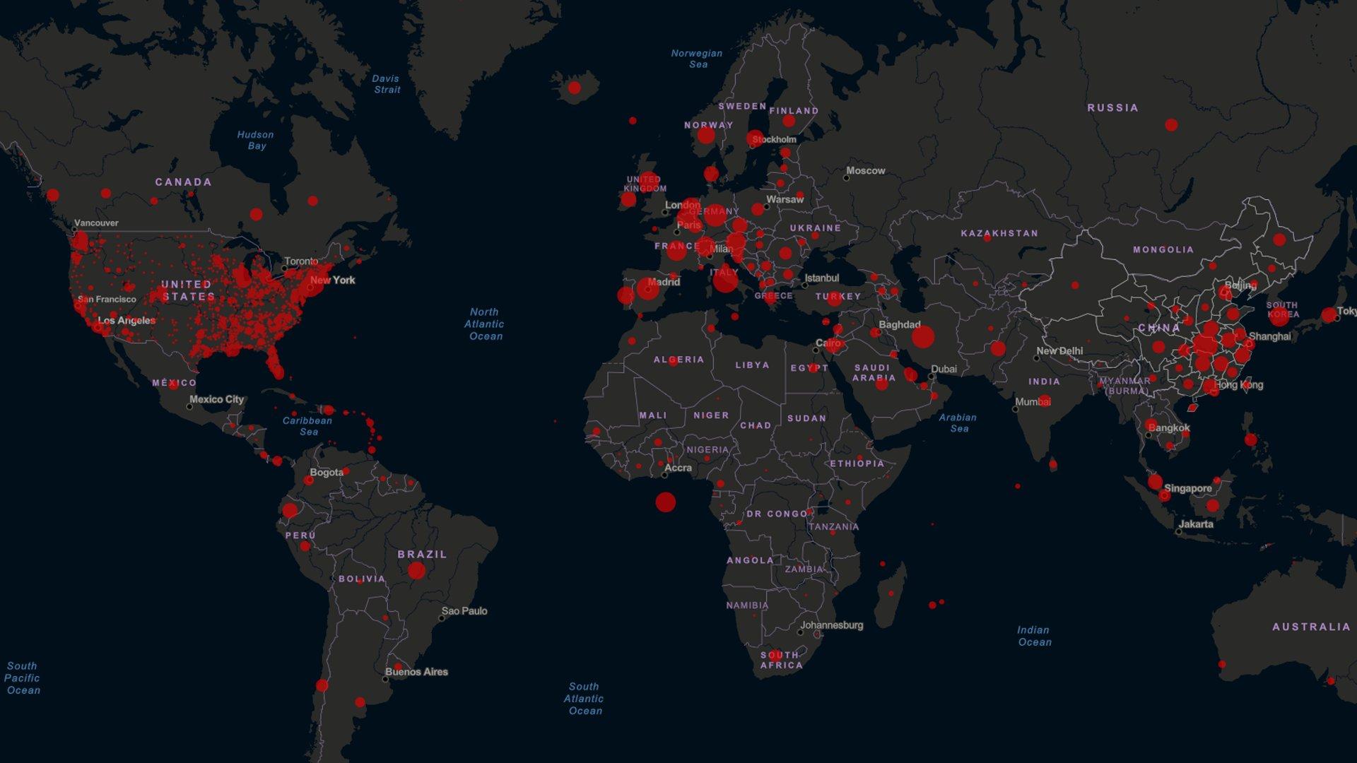 Koronavirus (Covid 19) nejlepší mapy a statistiky