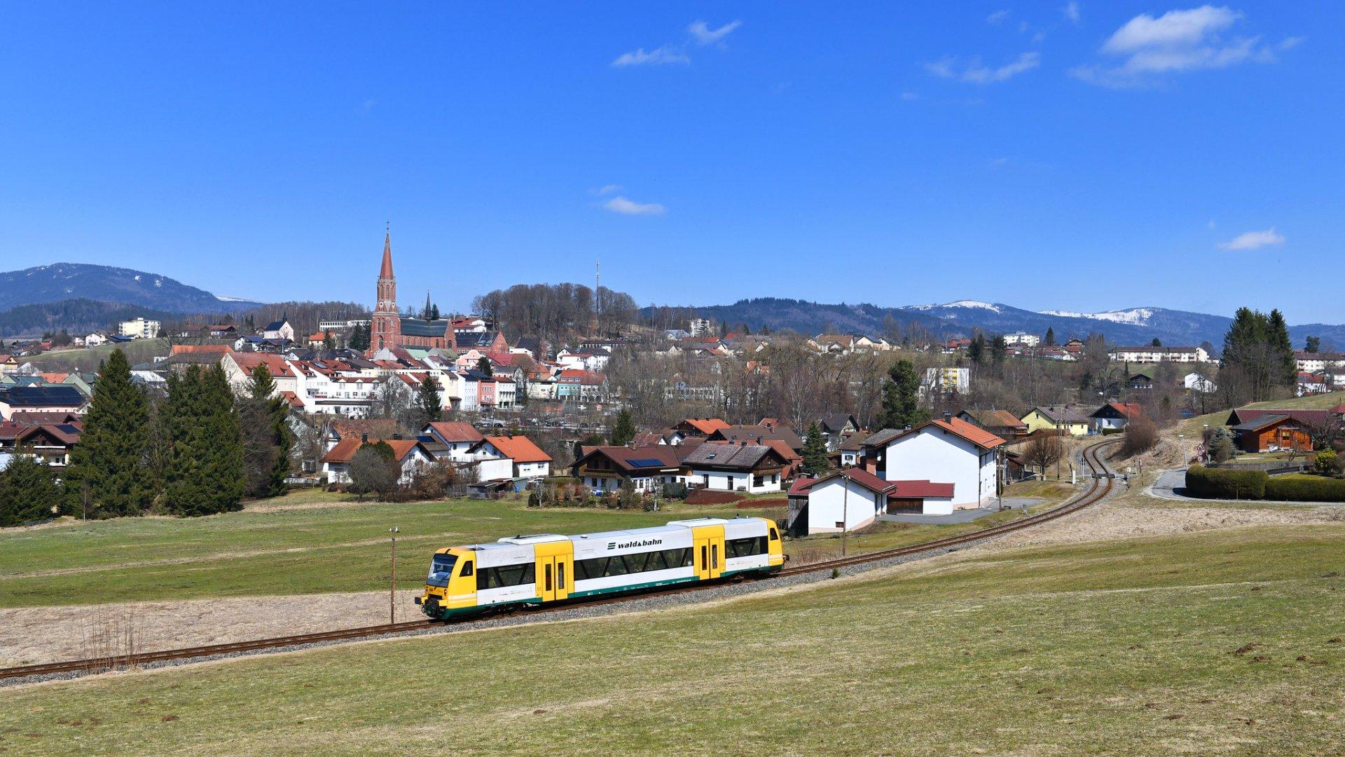 Lázeňské město Zwiesel na německé straně Šumavy