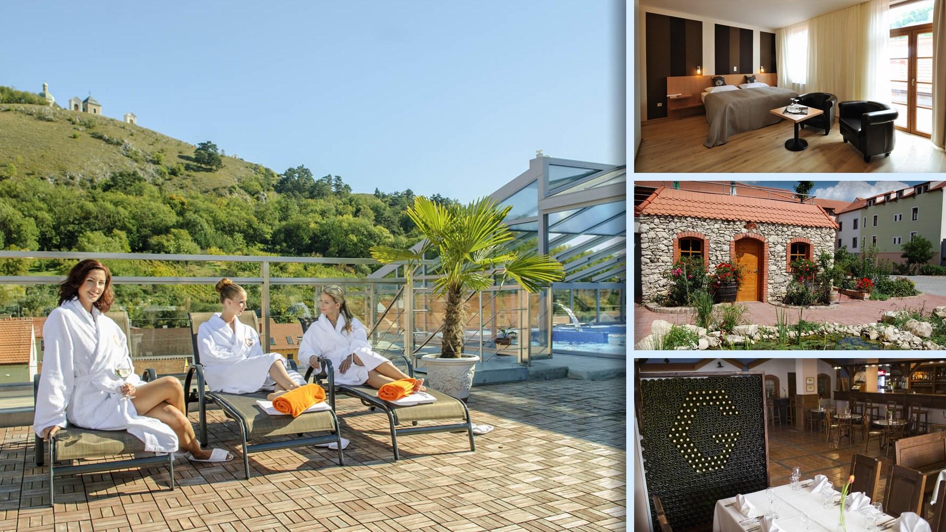 Hotel Galant Mikulov - Vinný sklípek i střešní terasa s bazénem