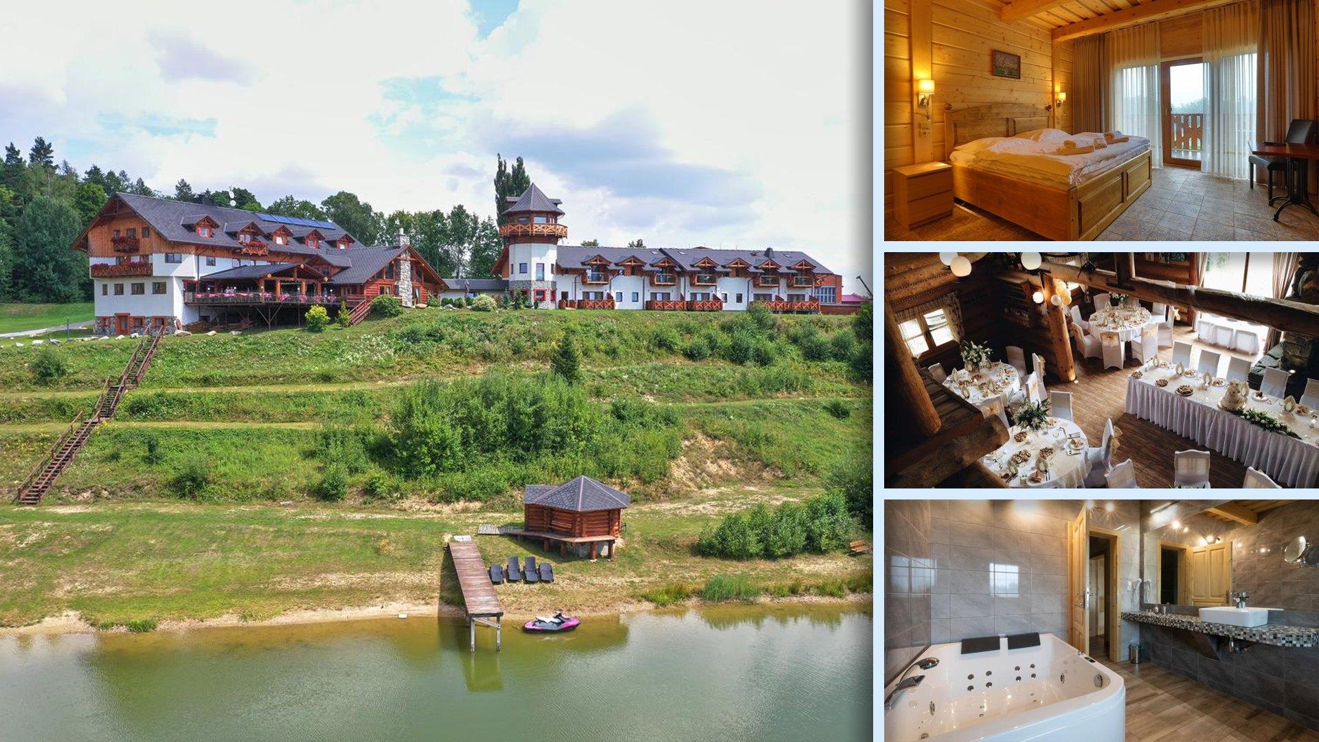 Rezidence u Jezera - Srubový hotel jako v Aspenu v Jeseníku u jezera Písečná