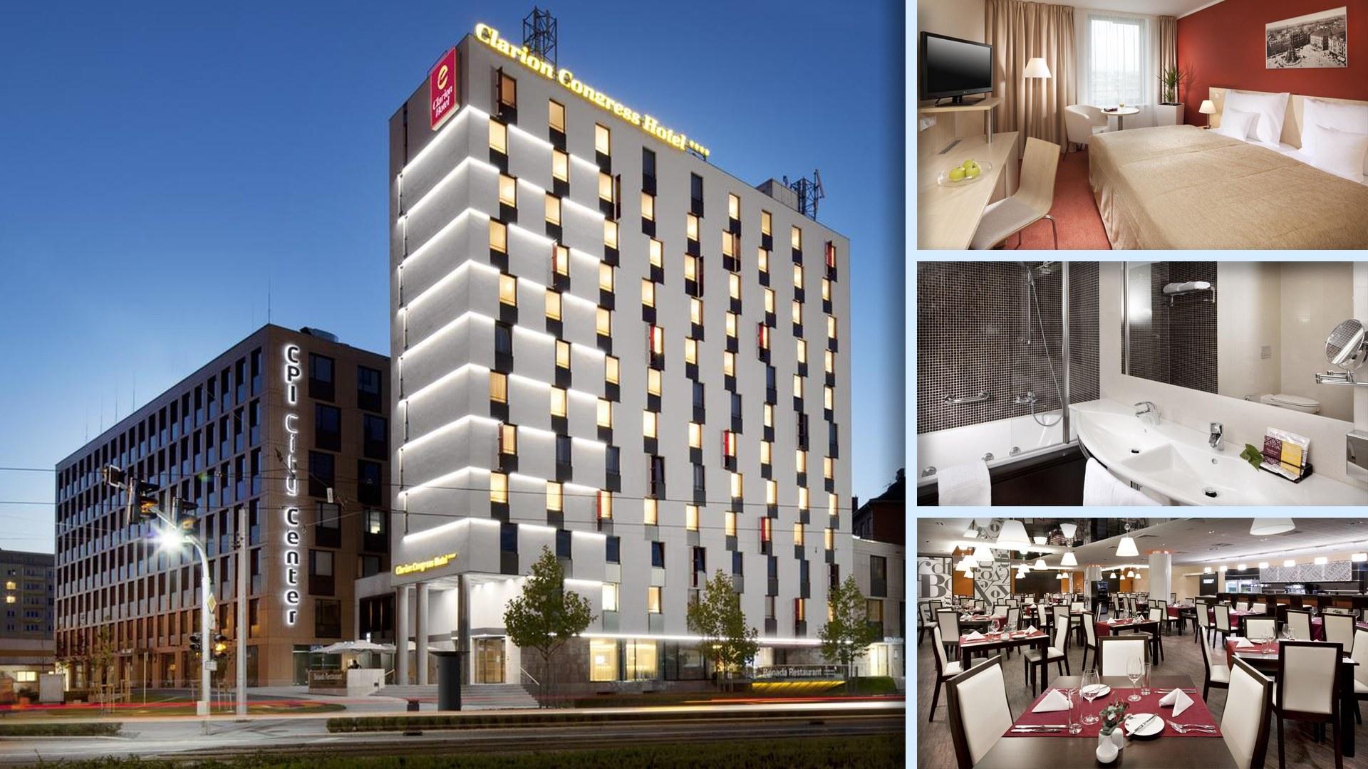 Clarion Congress Hotel Olomouc - Velký a moderní hotel na křižovatce