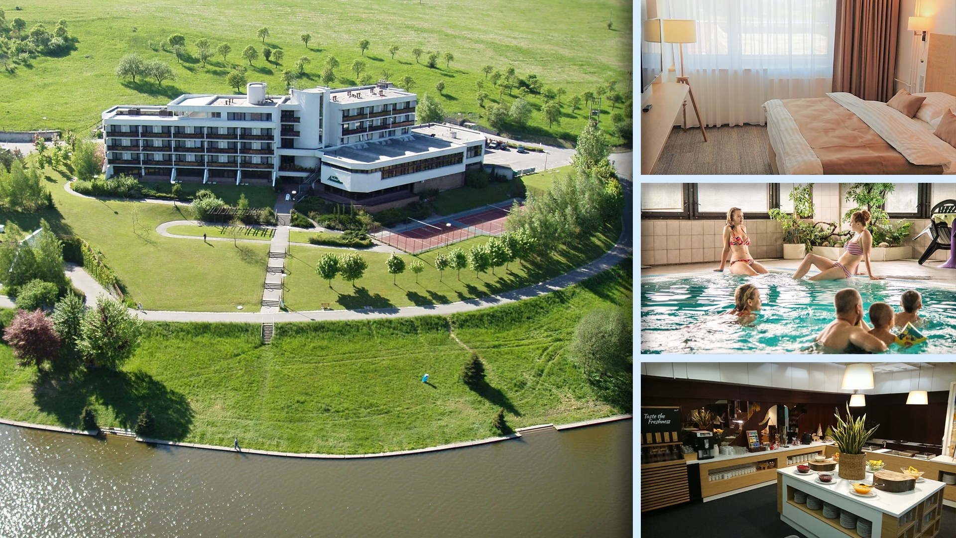 Hotel Adamantino - u Luhačovic s výhledem na hladinu