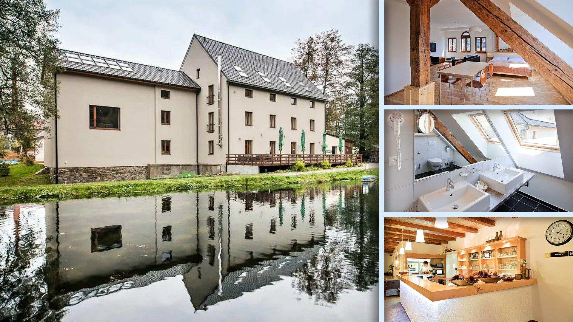 Ubytování Davidův mlýn - Moderní hotel, skvělé služby, gastronimie (ryby z vlastního rybníka)