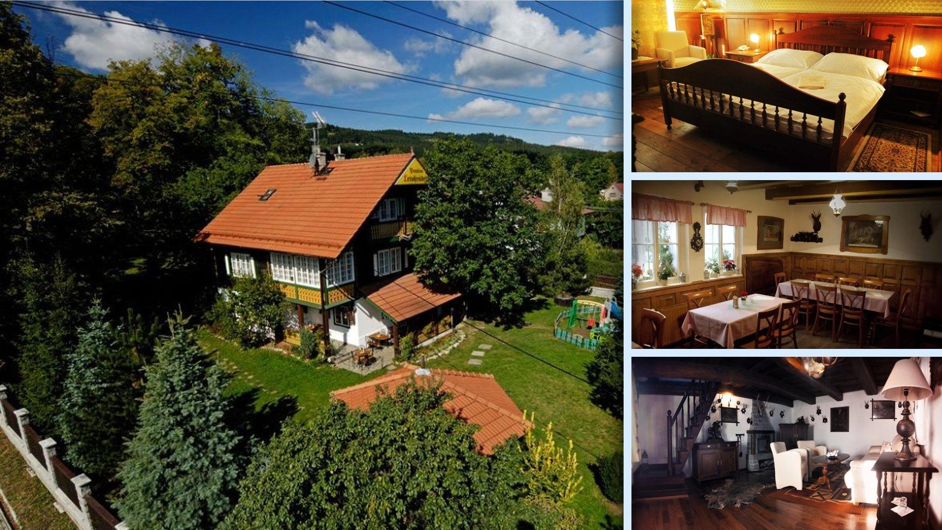 Penzion Letohrádek je unikátní ubytování ve stylu myslivny