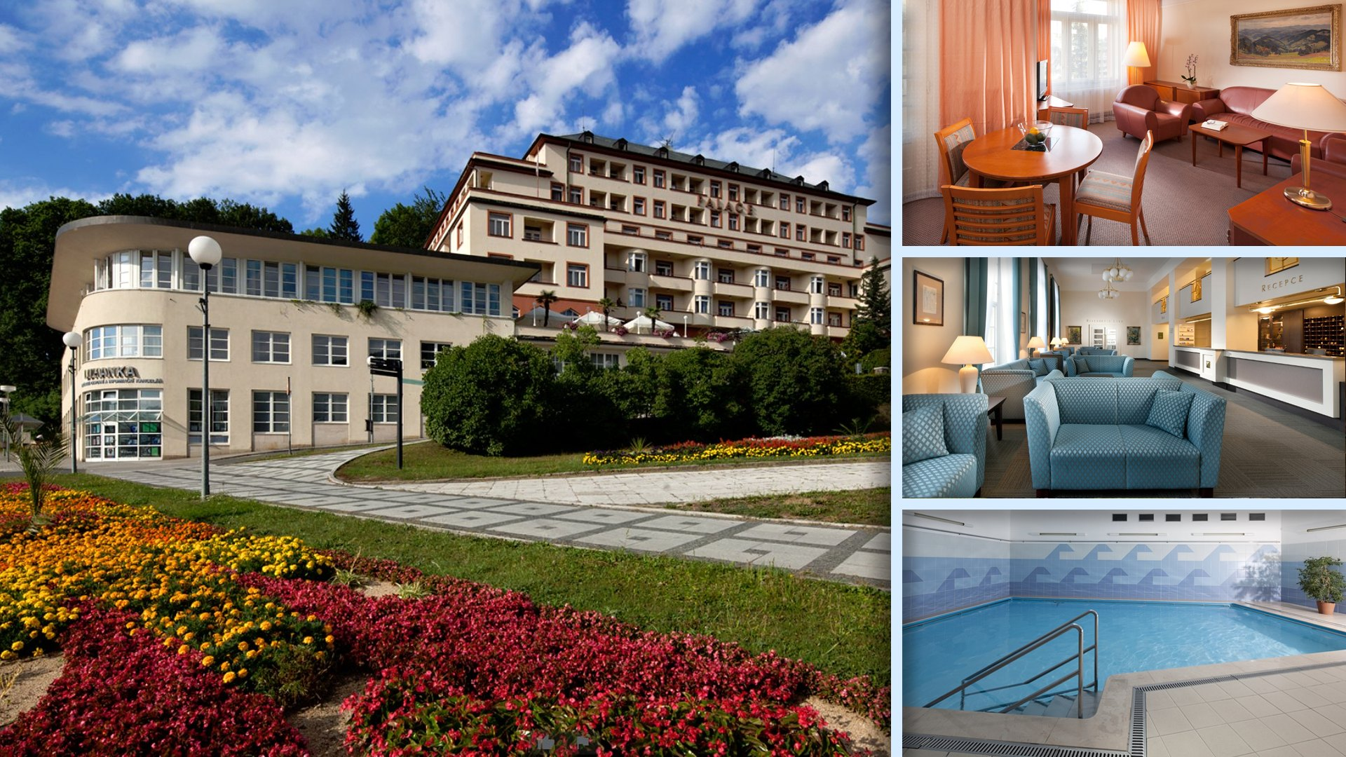 Hotel Palace Luhačovice - Prvotřídní hotel a služby v centru lázní