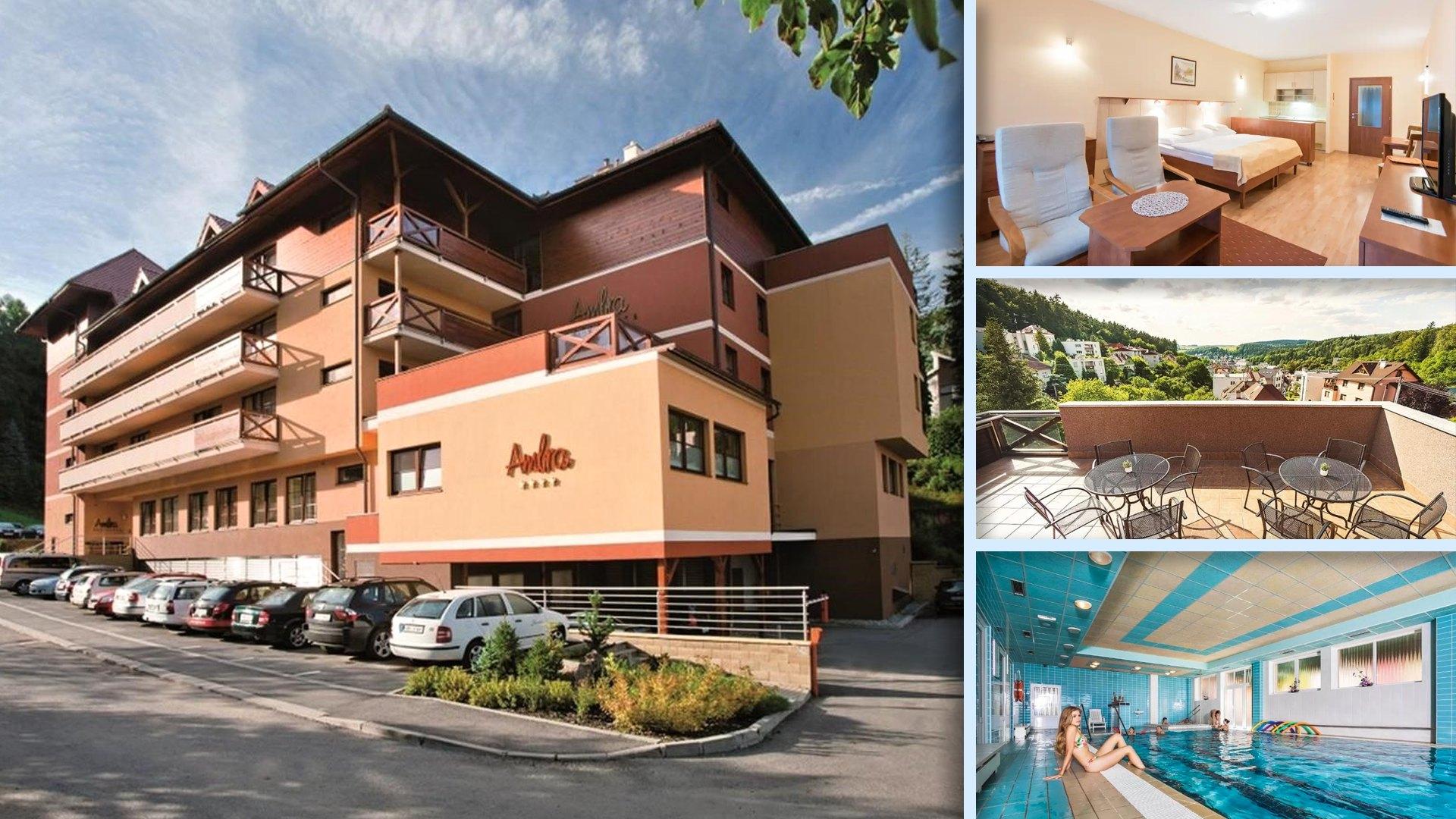 Wellness hotel Ambra v nejklidnější části Luhačovic